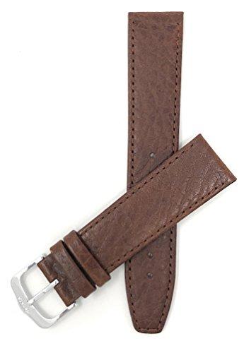 Extra Land (XL) Leder Uhrenarmband 20mm, Braun, dünn, Matte Oberfläche, auch verfügbar in schwarz und Hellbraun