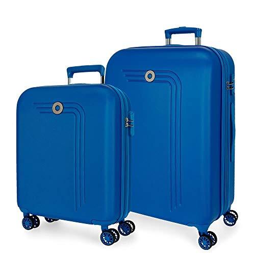 Movon kofferset harde schaal 55-70cm blauw
