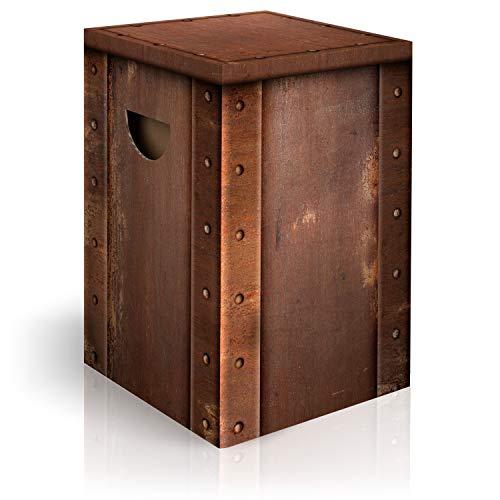 murando Papphocker Motiv Platte 45x30x30 cm faltbar Papier Hocker ergonomischer Karton Photohocker Falthocker f-C-0285-ap-a