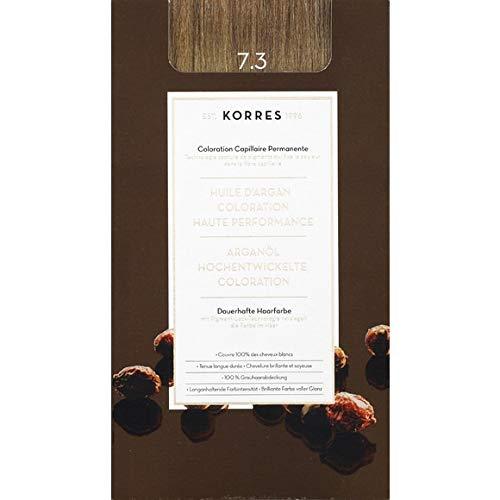 Korres - Coloration Huile D'Argan Golden/Honey Blonde N°7.3 - La Boite De 145Ml - Vendu par pièce - Livraison Gratuit en France
