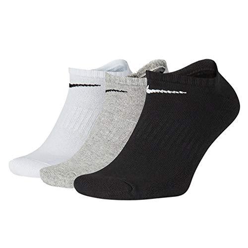 NIKE Everyday Plus Cushioned, Calcetines de entrenamiento invisibles Unisex adulto, opacity, Multicolor, Xl regular