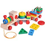 FunLittleToy 15.5 Inches Wooden Stacking Toys...