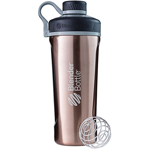 BlenderBottle Radian Insulated Stainless Steel Shaker Bottle, 26- Ounce, Copper