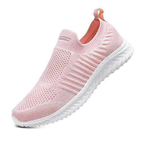 Zapatillas de Mujer Deporte Transpirable Ligero Malla Cómodos Casual Sneakers Running Tenis Correr Fitness Caminar Zapatos para Deportivas Gimnasio Outdoor Rosa 41