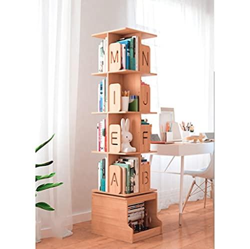 Estante del libro Estante giratorio de 360 grados con gabinete, 3 capas...