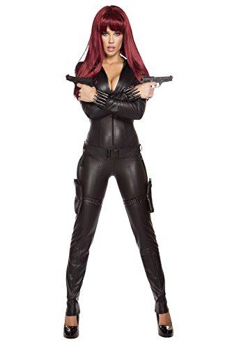Roma Costume Women's 2 Piece Alluring Assassin, Black, Large