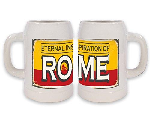 Boccale Birra Viaggi Cucina Roma Italia Stampato