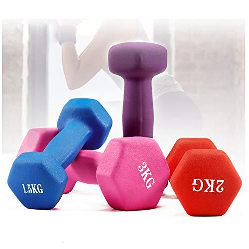 Mancuernas 1kg,Juego De Pesas Musculacion,para Equipos De Gimnasio En Casa, Entrenamiento De Fuerza, Pesas Libres para Mujeres, Hombres (Juego De 2 Mancuernas),Rojo,5KG
