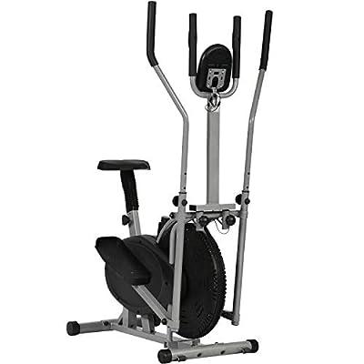 BestMassage Elliptical Trainer Elliptical Machine Exercise Bike 2 in 1 Cross Cardio Trainer Exercise Elliptical Fitness Adjustable Resistance Workout Home Equipment