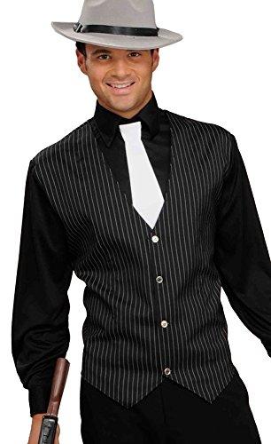 shoperama Gangster Set - Hemd Weste Schlips für Mafioso Mafiosi Mafiaboss Kostüm Gr. M/L