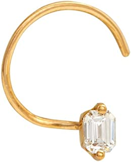 Gehna 22KT Yellow Gold and Diamond Nosepin for Women