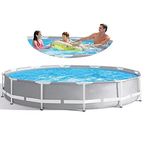305 * 76cm zwembad geslepen stalen zwembad tuin kader zwembad, familie metalen frame buitenzwembad