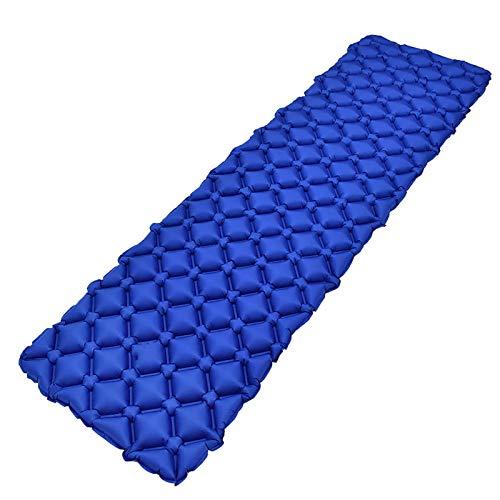 Wjfijz Colchón de Aire Sleeping Pad Ligero Campamento Inflable portátil a Prueba de Humedad Blue