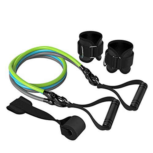 Review middle Sports Resistance Band Suit, Fitness Stretch Band Fitness Rope, Men and Women Abdomina...