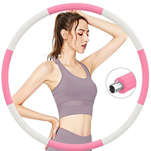 Aoweika Hula Reifen Fitness Hoop Erwachsene Zur Gewichtsreduktion 1.2 KG Rostfreier Stahl, mit 5mm Schaumstoff von für schmerzempfindliche und Profis, für Fitness Training Outdoor-Aktivitäten