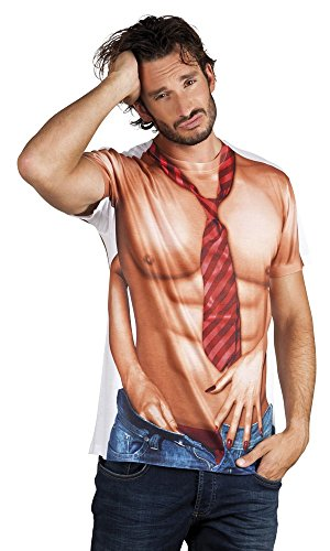 shoperama Photo Realistic T-Shirt Mens Casanova Costume Stag Night Top
