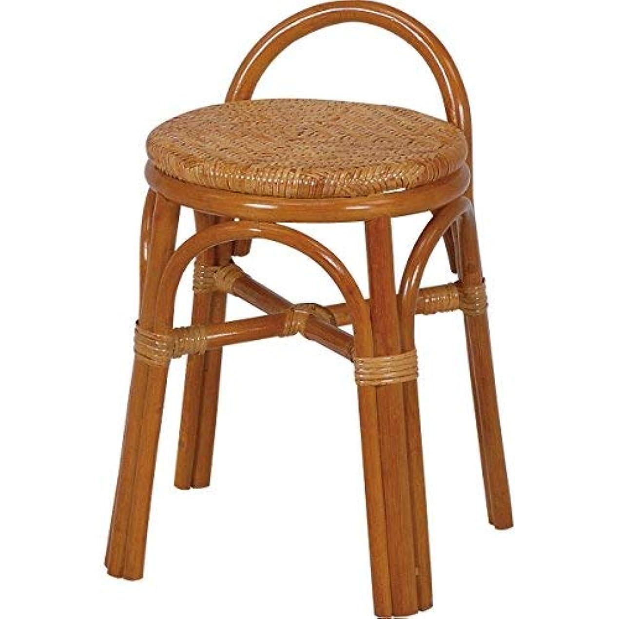 質量確保する分数軽いスツール ラタン製 RH-554 持ち手付き 脱衣所 や 玄関 補助椅子 に使える コンパクトなスツール