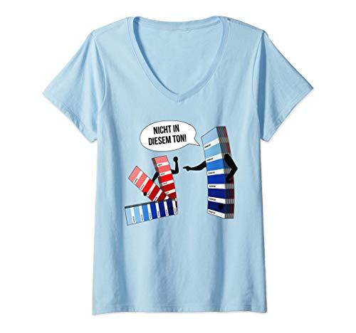 Damen Nicht in diesem Ton! Maler Lackierer Drucker Designer Fun T-Shirt mit V-Ausschnitt
