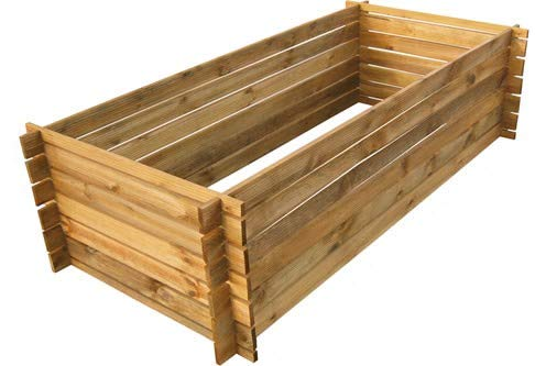 naturholz-shop Stabiler Holzkomposter Komposter Kompostbehälter imprägniert Hochbeet 170 x 85cm Riffel