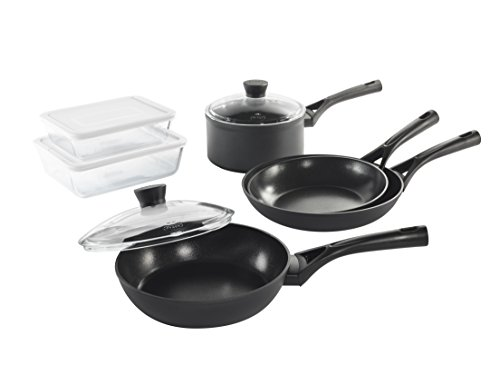Pyrex–Master Set–Set of 2Non-Stick Frying Pans Suitable for all Heat Sources including Induction–Dark Grey, Aluminium, dark grey, Set 8 pièces
