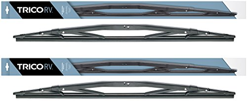 "2 Wiper Set -   22"" Heavy Duty Wiper Blades Fit Select Coach Bus RV w/Wide Saddle Attachment - If Vehicle Not In Amazon Garage Verify Fitment at www.Products.com Before Purchasing - TRICO 67-241"