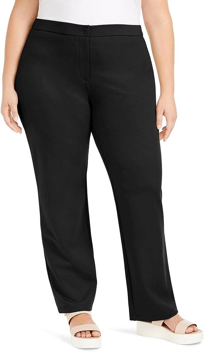 Eileen Fisher Womens Plus Tencel Blend Full Length Straight Leg Pants