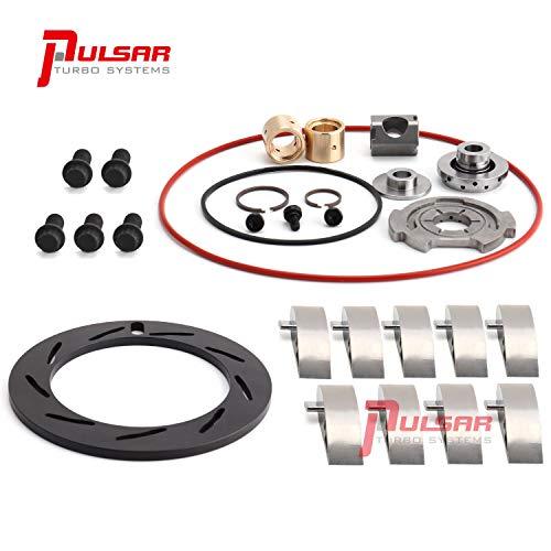PULSAR 04-07 6.0 Turbo Rebuild Kit NITRIDE HARDENED Unison Ring Staggered Step Gap Seals