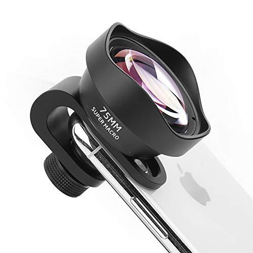 Lente Macro ULANZI 75MM para iPhone 11 X XS MAX Smartphone, Lente Macro de teléfono con Clip de 17 mm de diámetro
