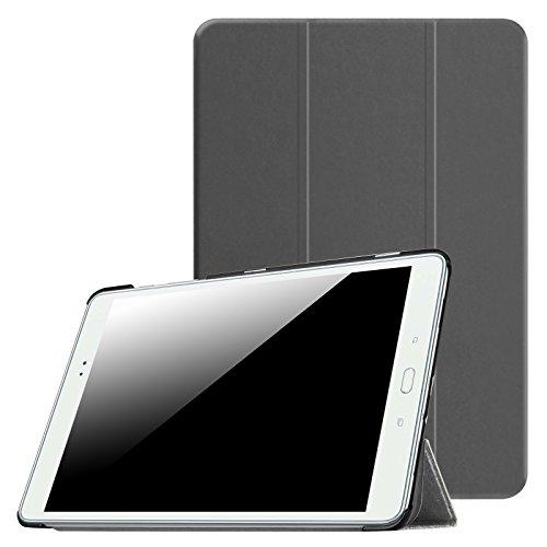 Fintie Hülle für Samsung Galaxy Tab A 9.7 T550N / T555N (9,7 Zoll) Tablet-PC - Ultra Schlank Superleicht Ständer SlimShell Cover Schutzhülle Etui mit Auto Schlaf/Wach Funktion, Himmelgrau