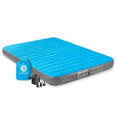 Air Comfort Camp Mate Queen Size Air Mattress with Battery Pump, Blue