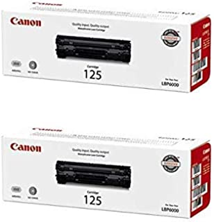 3484B001AA (CRG125) OEM Toner Cartridge 2 Pack, 1600 Page-Yield Per Ctg, Black