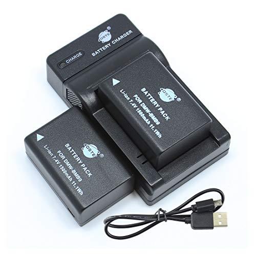 DSTE DMW-BMB9 - Juego de 2 baterías y cargador compatible con Panasonic Lumix DMC-FZ40, DMC-FZ45, DMC-FZ60, DMC-FZ62, DMC-FZ70, DMC-FZ72 y DMC-FZ100