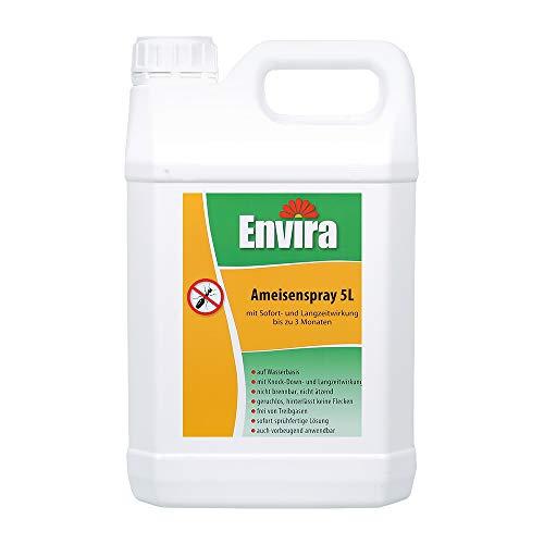 Envira Ameisen-Spray - Anti-Ameisen-Mittel Mit Langzeitwirkung - Geruchlos & Auf Wasserbasis - 5 Liter