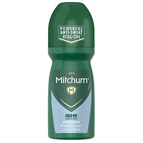 Mitchum Invisible Anti-Perspirant & Deodorant Roll-On, Unscented 3.4 oz (Pack of 5)