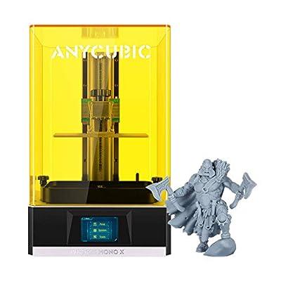 "ANYCUBIC Photon Mono X 3D Printer, UV LCD Resin Printer with 4K Screen, Z-axis Dual Linear Rail, Matrix UV Light Source, Printing Size 7.55""(L) x 4.72""(W) x 9.84""(H)"