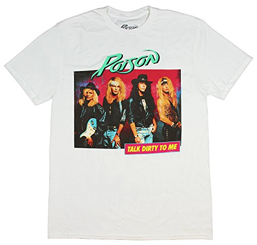 Official Poison Talk Dirty To Me T-shirt for Men, White, XXL