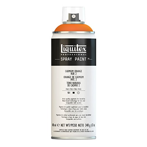Liquitex Professional Spray Paint - Acrylfarbe, Farbspray auf Wasserbasis, lichtecht, 400 ml - Kadmium - Orange Imit. Nr. 2