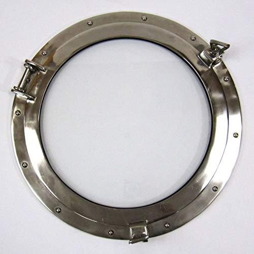 HANDMADE BY ARTISAN AL 486110C 20inch Aluminum Porthole Window Chrome Finish-Nautical Decor
