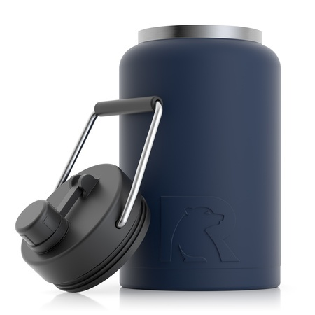 RTIC Jug, Half Gallon, Navy Matte, Vacuum Insulated Large Water Bottle, with Handle