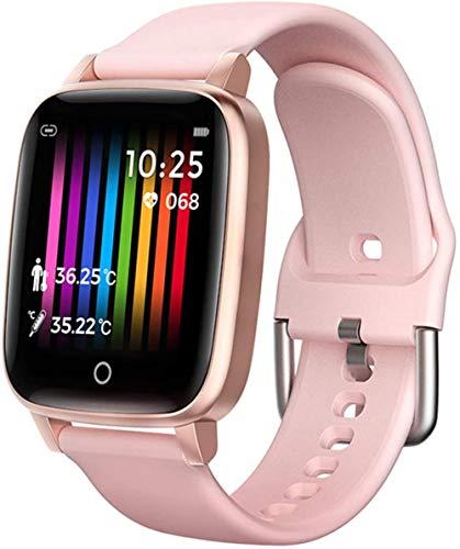 Fitness Tracker USB IPX67 impermeable Bluetooth reloj inteligente con temperatura corporal, monitor de sueño, monitor de sueño, pantalla táctil de 1,3 pulgadas