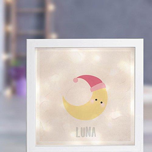 Leuchtrahmen Nachtlicht Wandlicht Lightbox Dreamchen Mond Luna