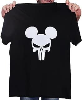 Mickey Mouse Skull - Punisher - Novelty Gift - Custom Unisex Adult Tshirt