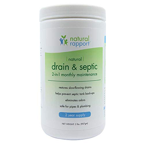 Natural Rapport Septric Treatment and Drain Cleaner - The Only Septic Treatment & Drain Cleaner You Need - Professional Strength Holding Tank & Drain Bio Enzyme Cleaner for Home and RV (2 lbs)