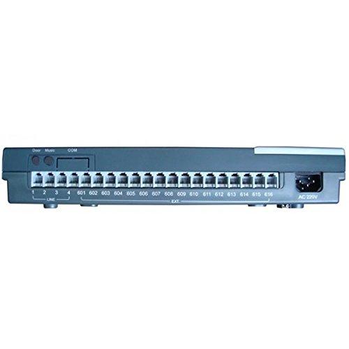 Centralita telefónica para el hogar y oficina 4 líneas y 16 extensiones EZ416-PBX