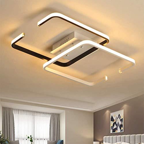 Plafondlamp LED dimbaar woonkamer plafondlamp met afstandsbediening slaapkamer modern rustiek design aluminium kroonluchter kroonluchter lamp eetkamer badkamer