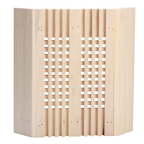 Vierkante transparante sauna-lampenkap, sauna-ruimte, vierkante houten hoeklampenkap, hoge temperatuur, explosiebestendig, helder afdekkings-sauna-accessoire