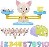 Funmo Juegos Matematicos para Niños, Equilibrar Juego de Matemáticas Juguete Animal Balanza, Juguete Educativo Niños Balanza de Equilibrio Números Tarjetas Niños Educación Temprana Juguete (Perro)