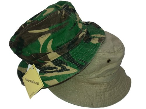 HDUK Summer Hats Adultes rétro 100% Coton Camouflage réversible Seau Chapeau/Disponible en Tailles S (58 cms) Medium (59 cms) et Grande (60 cms) - - S