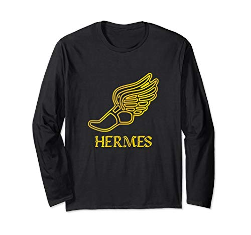 Hermes Shoe Caduceus Son Zeus God Greek Mythology Cute Gifts Langarmshirt