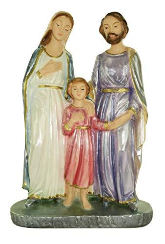 Ferrari & Arrighetti Estatua Sagrada Familia en Yeso Pintada a Mano - 20 cm